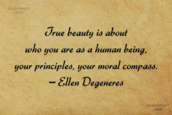 Quote: True beauty is about who you are...