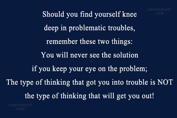 Quote: Should you find yourself knee deep in...