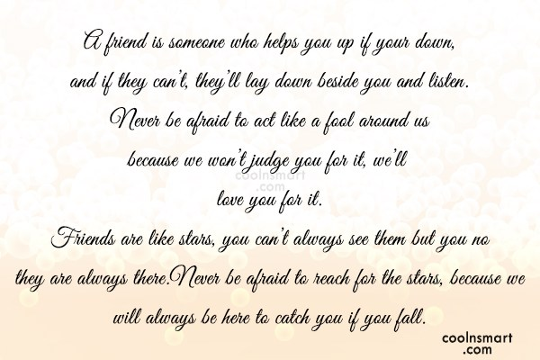 Best Friend Quote: A friend is someone who helps you...
