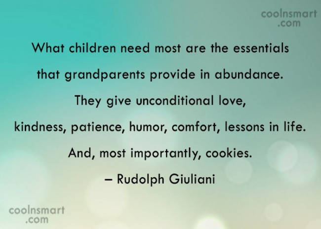 Grandparents Quote: What children need most are the essentials...