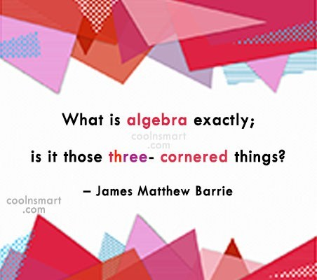 Quote: What is algebra exactly; is it those...