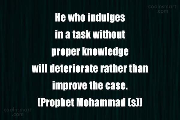 Wise Quote: He who indulges in a task without...