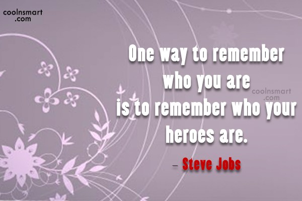 Quote: One way to remember who you are...