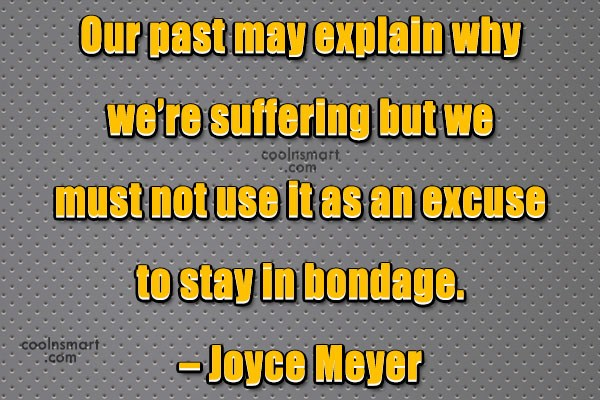 Quote: Our past may explain why we're suffering...