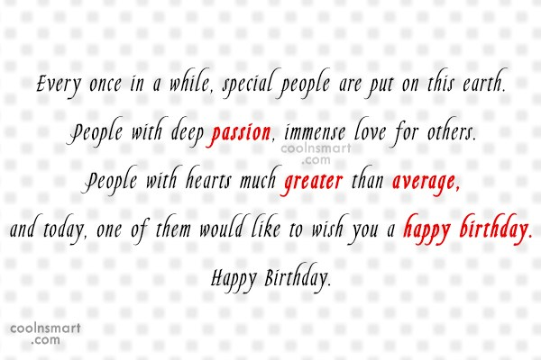 Funny Birthday Quotes Quote: Every once in a while, special people...