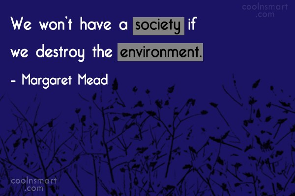 Quote: We won't have a society if we...