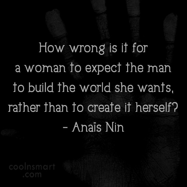 Quote: How wrong is it for a woman...