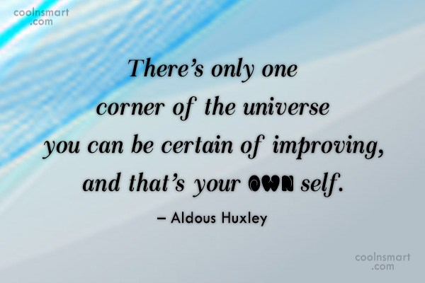 Images Quote: There's only one corner of the universe...